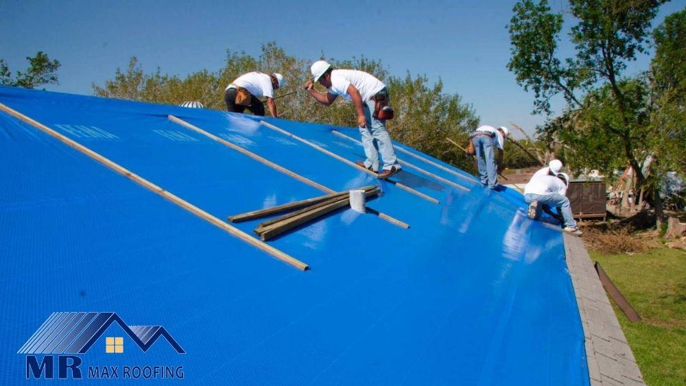 Tarp roofing installation
